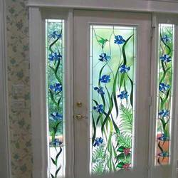 Designer Printed Door Glass, Thickness: 8 To 10 mm