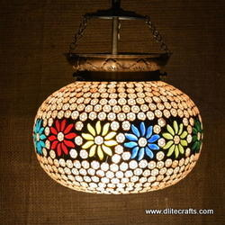 Glass Mosaic Hanging Lantern