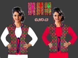 Silk Embroidered Gamthi koti, Size: L XL