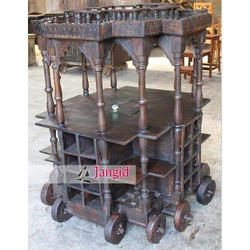Indian Antique Handcrafted Trolley