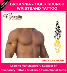 Britania Tiger Krunch -  Armband Temporary Tattoo