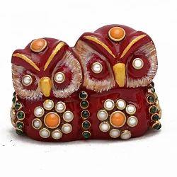 Meena Kundan Jewelry Work Owl Couple Mt068