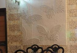 3d butterfly pattern mint sandstone cladding