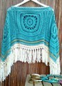 Hand Crocheted Ladies Poncho
