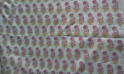 Small Booti Pink Block Printed Fabric