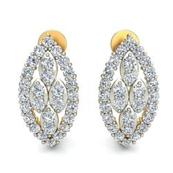 14k Hallmark Golden Diamond Earring