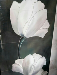 Flower Printed Tile