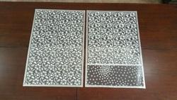 Silver & Black Embroidered Mats