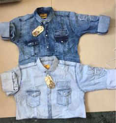 Full Sleeves Linen Denim Shirts