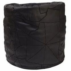 Round Leather Bean Bag