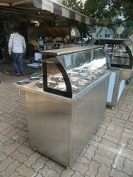 Glass Tip Top Bain Marie Display Counter