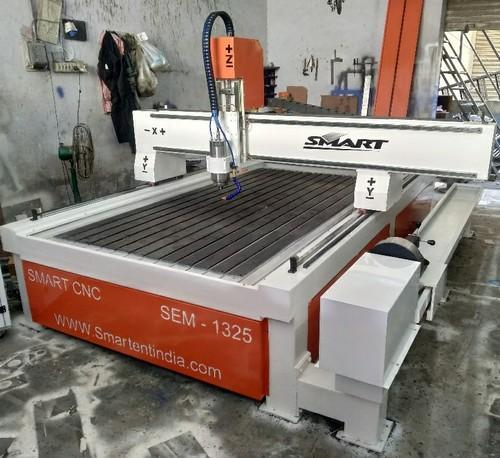 Automatic White CNC Wood Carving Router Incl Dust Collector, Max Job Size: 1300 X 2500, 360