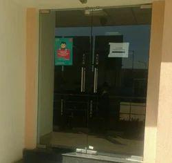 Transparent Office Glass Door