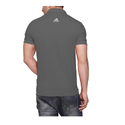 Black Polyester Addidas Back Logo T-shirt