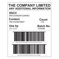 Logistics Barcode Label