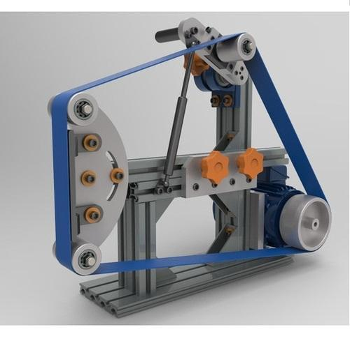 Powertech Rubber Wheel Belt Grinder 372 Watt Power With 1