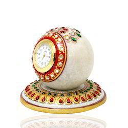 ICH Table Round Marble Clock