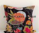 CUSHION COVER HAND MADE KANTHA WORK