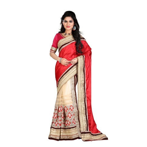e268a3a09f Rudra Available In Many Colors Fancy Party Wear Saree, Rs 1000 ...