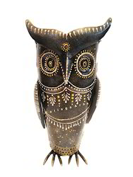 Iron Owl Flower Vase