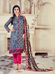 Pure Chanderi Silk Salwar Suit