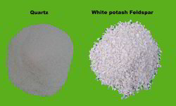 Quartz and White Potash Feldspar