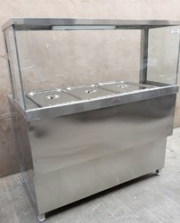 Silver Stainless Steel Display Counter