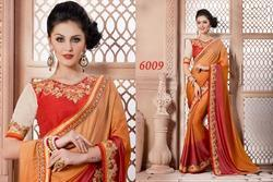 Heavy Embroidered Blouse With Designer Saree