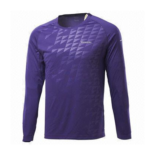 Polyester Purple Men Sports T-Shirt