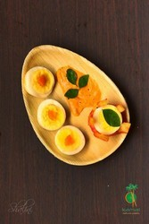 Yellow Cafe Oval, Size: 8 Inch Diameter