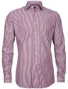 Formal Wear Purple Printed Mens Cotton Woven Shirt, Machine Wash