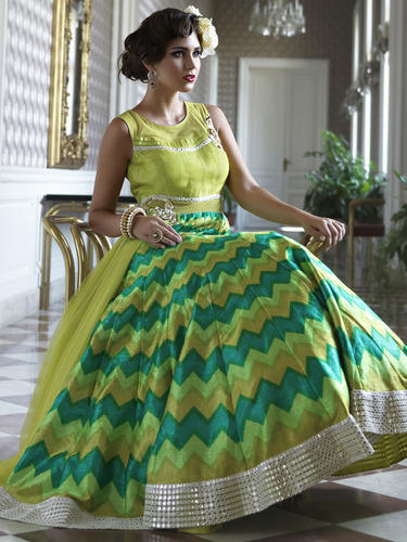 Mirror Work Gown at Rs 4000 /piece(s) | Work Gowns | ID: 11918996248
