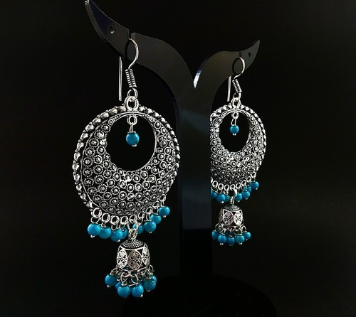 D9 Creation Anniversary And Engagement Artificial Jhumka Earrings