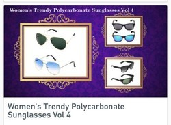 Women's Trendy Polycarbonate Sunglasses