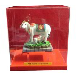 Kamdhenu Cow Acrylic Donation Box