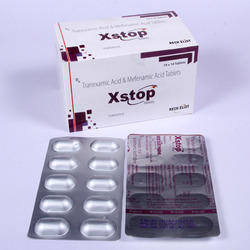 X-STOP药级氨甲环胺500mg甲非那明250mg,用于止痛镇痛药351mg-500mg