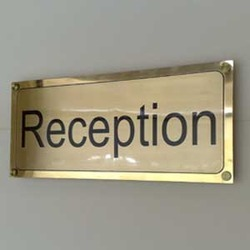 Brass name board in chennai tamil nadu suppliers dealers retailers of brass nameplate in for Name plate designs for home in chennai