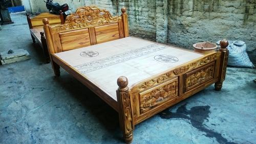 Original Teak Wood Double Cot