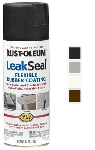 Spray Rubber Seal >> Rustoleum Leak Seal Waterproof Rubber Coating Spray