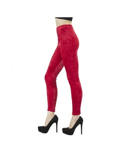 Pink Velvet Leggings