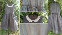 Cotton Grey Girls Frock