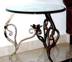 Turret Art 1 Inch -9 Inch X 2 Inch Decorative Wrought Iron Table