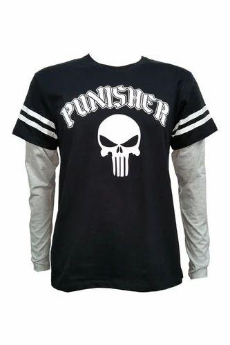 4428b57f Punisher Full Sleeves T-Shirt, फुल बाजू की टी शर्ट ...