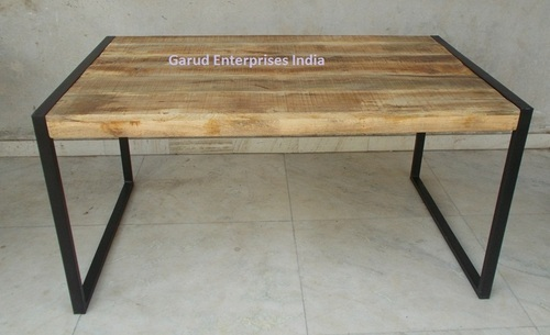 Reclaimed Mango Wood Dining Table With Metal Legs. Reclaimed Mango Wood Dining Table With Metal Legs   Garud