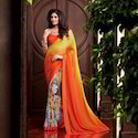 Georgette Printed Casual Wear Designer Sarees