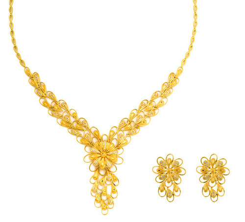 22k Gold Necklace Set Gold Necklaces