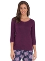 Purple 3 4 Sleeve Top