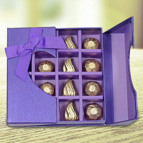 Company Details & Striking Purple Chocolate Gift Box Chocolate Box - Archies Chennai ...