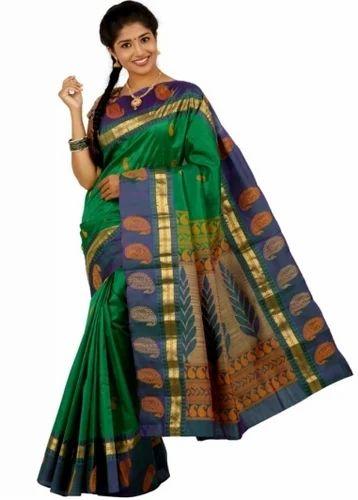 b08a0b3c59555b Green Colored Semi Silk Saree at Rs 4450 | Silk Sarees | ID: 13740546488
