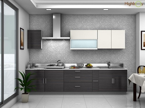 Spoonfall Grey Modular Kitchen at Rs 99552/no   Modular ...